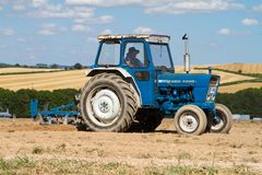 Old ford 4000 tractor ploughing Royalty Free Stock Photo