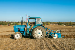 Old ford 4000 tractor ploughing Royalty Free Stock Image