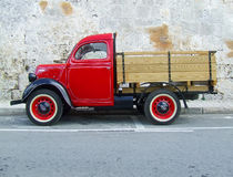 Vintage Red Truck Stock Image