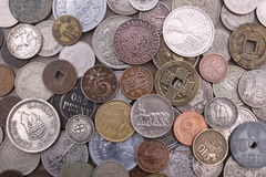 Old foreign coin collection Royalty Free Stock Photos