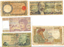 Old foreign currency. From around the world - Europe Stock Photo