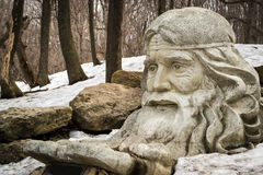 Old Forest Man Statue Royalty Free Stock Photo