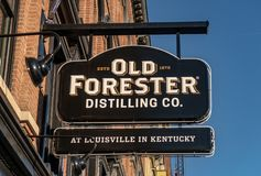 Old Forester Distilling Co. Entrance to Old Forester Distilling Co. in Louisville, Kentucky stock photo