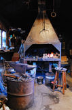 Old forge. forge in the Middle Ages Stock Photo