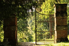 Old forged gates Royalty Free Stock Photos
