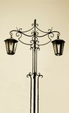 Old forged lamp Royalty Free Stock Photos