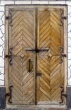 Old forged wooden door royalty free stock image