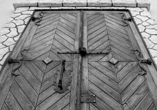 Old forged wooden door stock photos