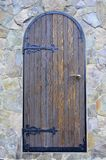 Old forged wooden doors stock photography