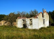 Free Old Forgotten House Ruins Poland Stock Image - 130122321