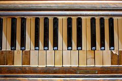 Old Forgotten Piano Royalty Free Stock Photo