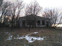 Old forgotten rural building background. Nature landscape stock photos