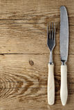Old fork and knife Stock Photos