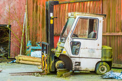 Old fork lift Stock Photos