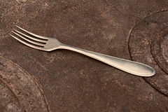 Old fork Stock Photography