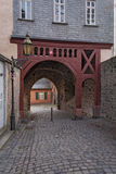 Old former city gate in Frankfurt Hoechst Royalty Free Stock Images