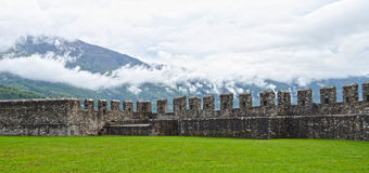 Old Fort in Bellinzona Stock Images