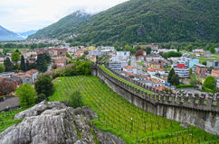 Old Fort in Bellinzona Stock Photos