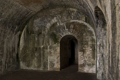 Old Fort: Brick Archway Royalty Free Stock Photos