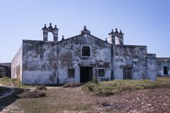 Old fort church in Mozambique Island royalty free stock photo