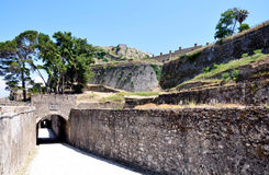 Old Fort, Corfu Town, Greece. View of the old fortress, Corfu Town, Greece Royalty Free Stock Photo