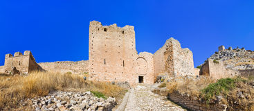 Old fort in Corinth, Greece Royalty Free Stock Image