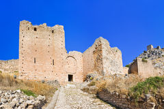 Old fort in Corinth, Greece Stock Photos