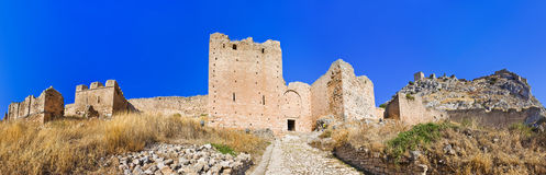 Old fort in Corinth, Greece. Archaeology background Royalty Free Stock Photo