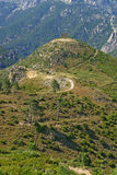 Old fort Corsica. Landscape in Corsica with the old stone fort on a hill Royalty Free Stock Image