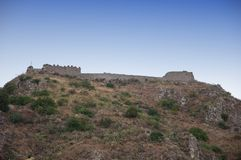 Old fort on the hill stock photography