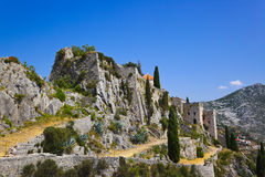 Old fort in Klis, Croatia. Architecture background Royalty Free Stock Photography