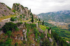 Old fort in Klis, Croatia Royalty Free Stock Images