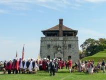 Old Fort Niagara - historical parade stock image