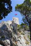 Old fort in Omis, Croatia Royalty Free Stock Photo