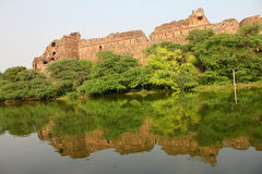 Old fort with reflection Stock Photography