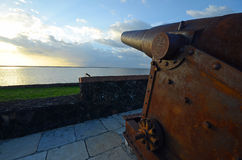 Old fort's cannon Stock Images