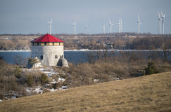 Old fort Tower and Windmills Stock Image