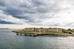 Old Fort Under Stormy Sky Royalty Free Stock Image