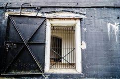 Old fort or warehouse  door Stock Photo