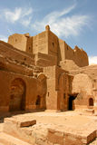 Old fortification in the desert of Aswan, Egypt Stock Images