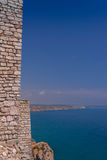 OLD FORTIFICATION WALL BESIDE THE BLACK SEA Stock Image