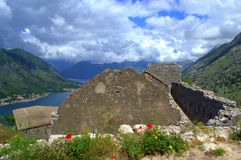 Old fortifications above Kotor,Montenegro Royalty Free Stock Image