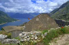Old fortifications above Kotor,Montenegro Stock Photos
