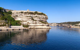 Old fortifications of Bonifacio, Corsica island Stock Photos