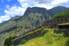 Old fortifications,Montenegro mountains Stock Photography