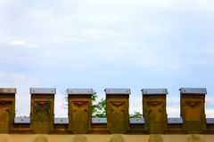 Old fortifications wall. A part of old fortifications wall in small city Saarburg, Rheinland-Pfalz, Germany Royalty Free Stock Photo