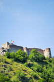 Old fortified castle of Vlad Tepes in Romania. Poienari fortress in the Romanian mountains Stock Photo