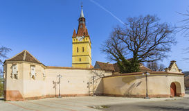 Old fortified Church in Cristian, Brasov,Romania Stock Image