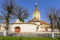 Old fortified Church in Cristian, Brasov,Romania Stock Images