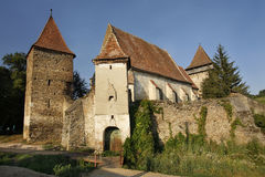 Old fortified church in Valchid village. Transylvania Stock Photography